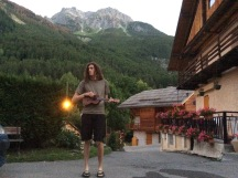 Ukelele in French Alps